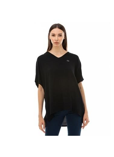 Lacoste Kadın V Yaka Bluz QF0004.04S Siyah